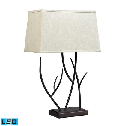 D2209-LED Winter Harbour Hammered Iron LED Table Lamp  In