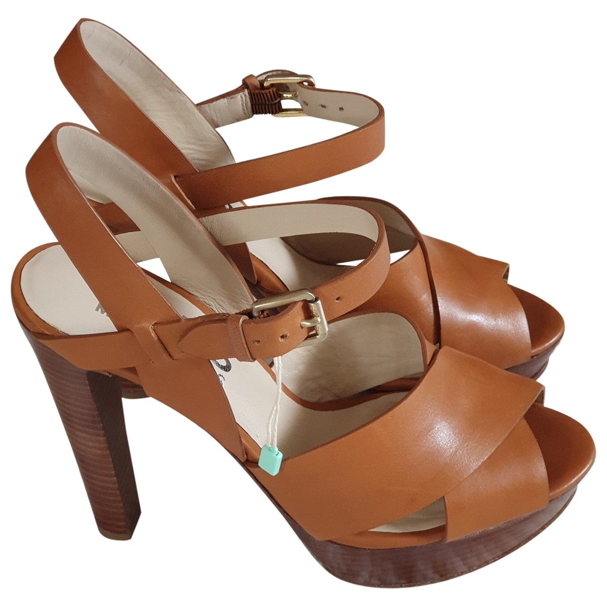 Michael Kors \N Camel Leather Sandals for Women 37 EU