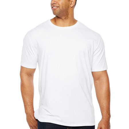 The Foundry Big & Tall Supply Co.-Big and Tall Mens Crew Neck Short Sleeve T-Shirt, 2x-large Tall , White
