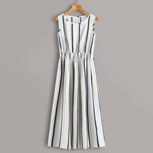 A Linie Kleid mit Streifen