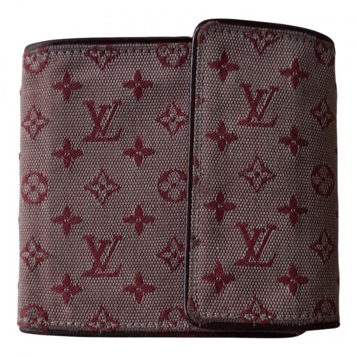 Louis Vuitton - Portefeuille   pour femme en toile - bordeaux