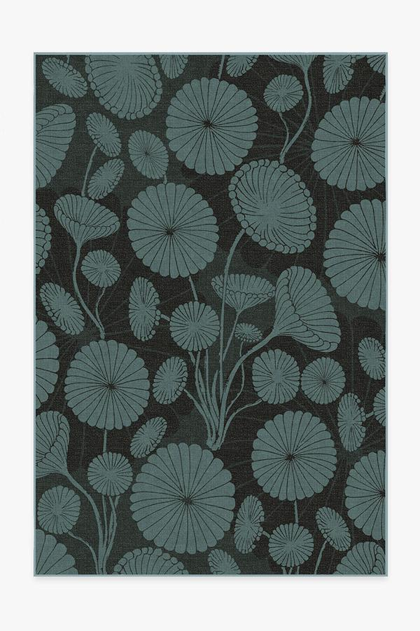 Washable Rug Cover & Pad | Cynthia Rowley Pompom Jade Rug | Stain-Resistant | Ruggable | 6'x9'