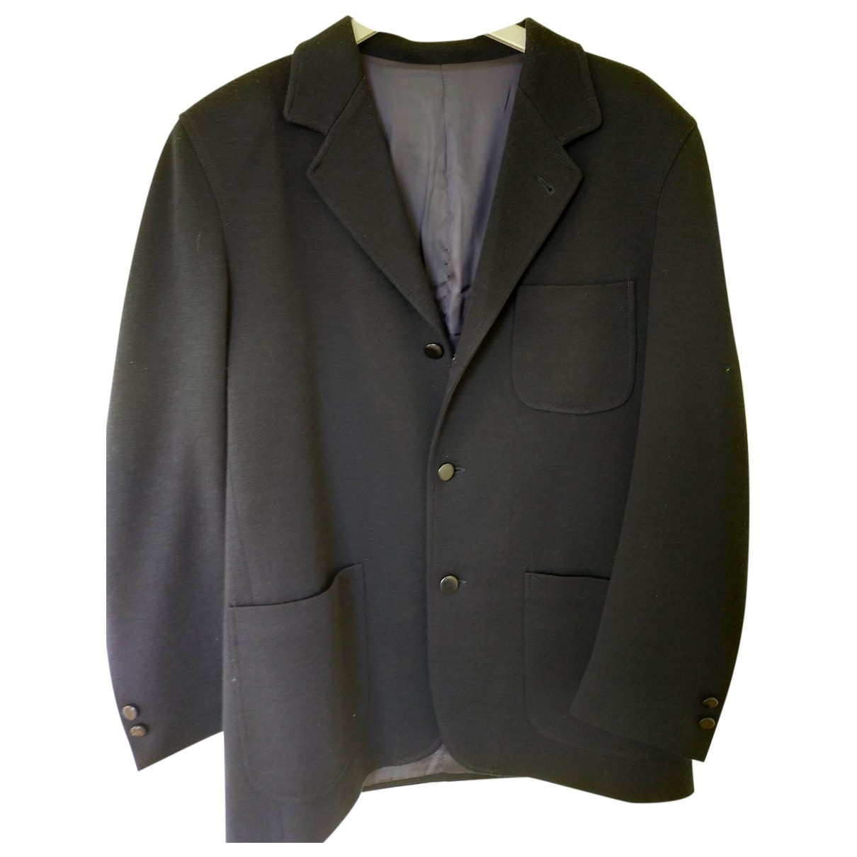 Non Signé / Unsigned \N Navy Cotton jacket  for Men 52 FR