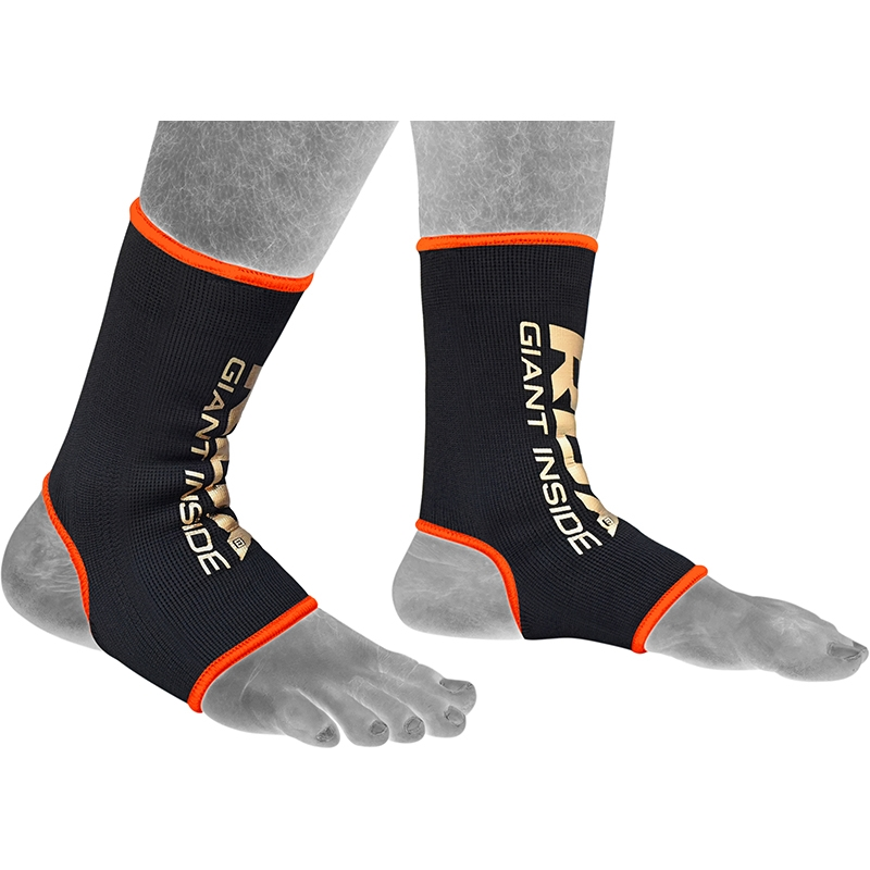 RDX AO Chevillere Chaussette de Compression Grande Noir-orange Nylon