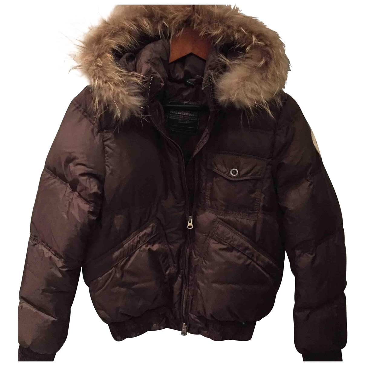 Napapijri \N Jacke in  Braun Synthetik