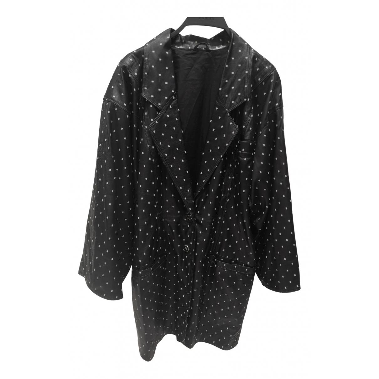 Gianni Versace \N Jacke in  Schwarz Leder