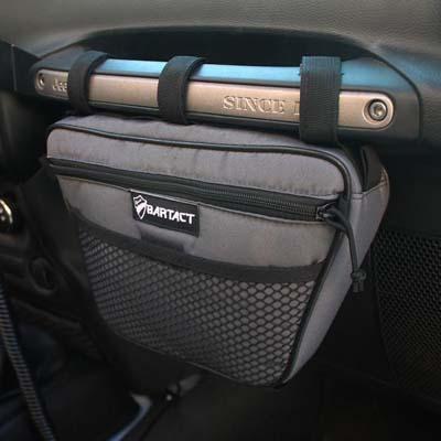 Bartact XXDHBFG Jeep Wrangler Dash Bag Passenger Grab Handle Dash Bag Fabric Graphite