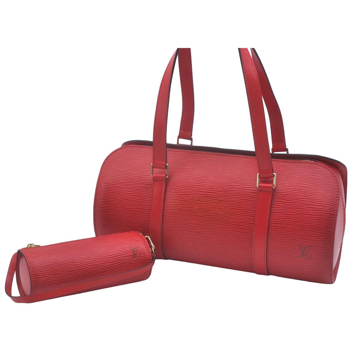 Louis Vuitton - Sac a main Soufflot pour femme en cuir - rouge