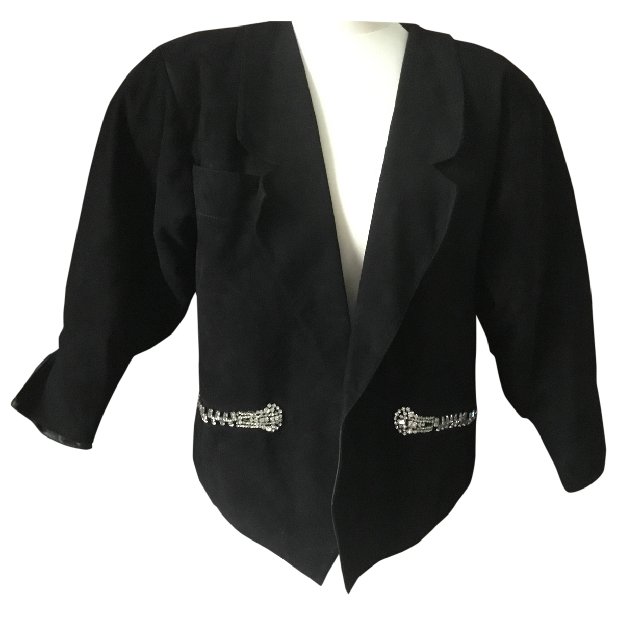 Claude Montana \N Black Suede jacket for Women 36 FR