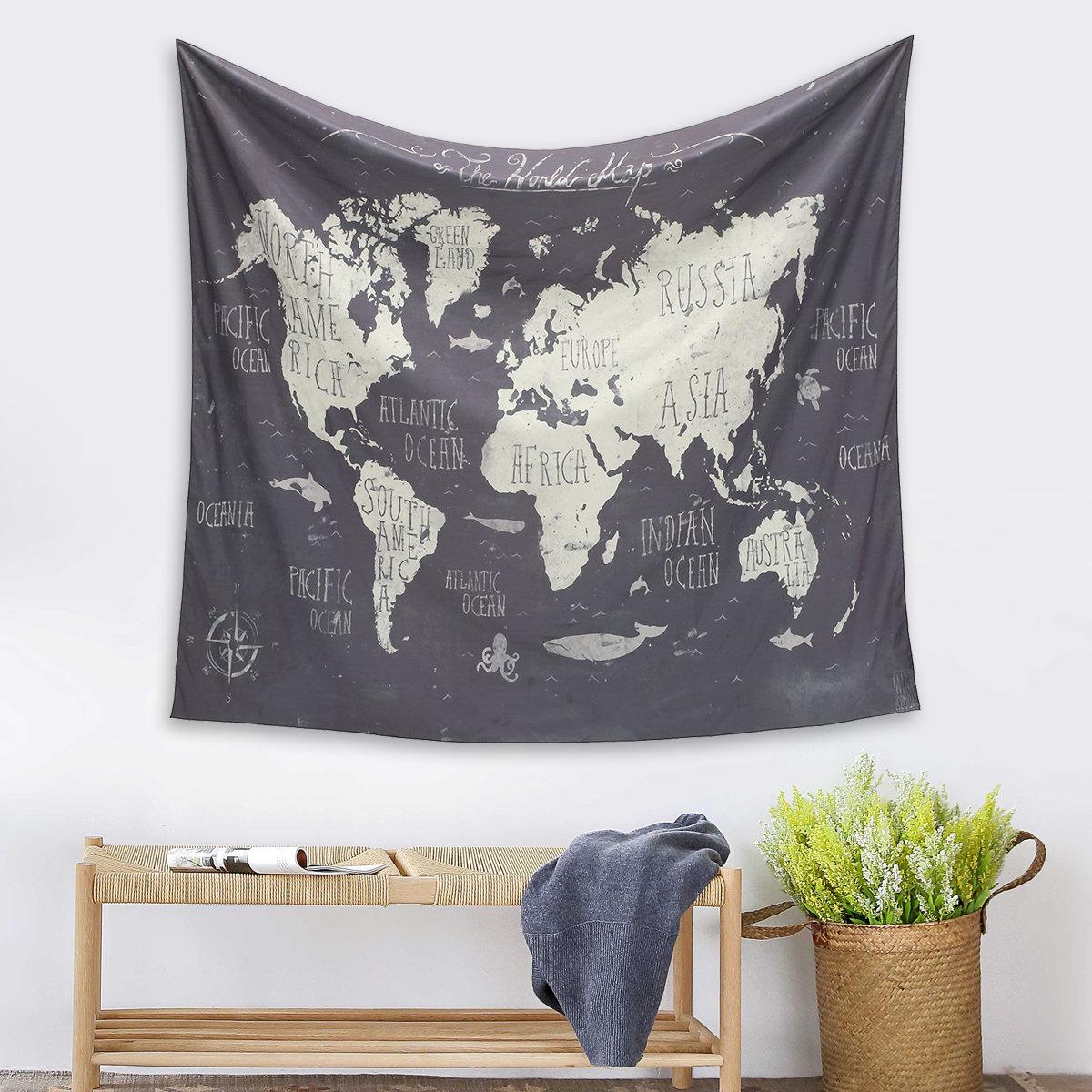 Society 6 The World Map Wall Tapestry Medium 59