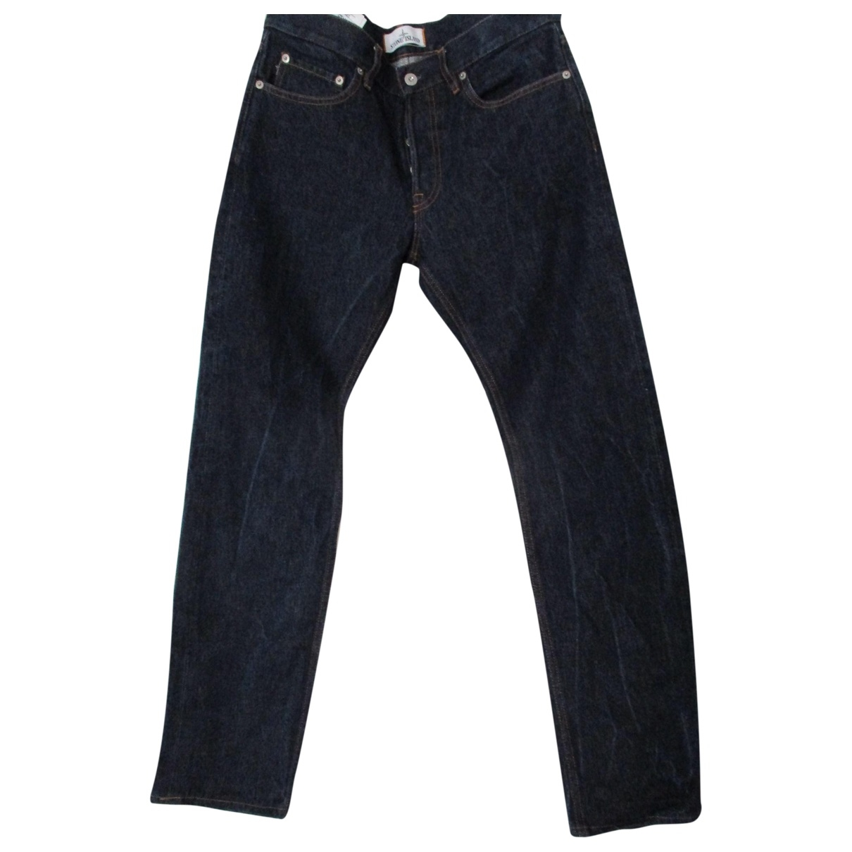 Stone Island \N Blue Cotton Jeans for Men 34 US