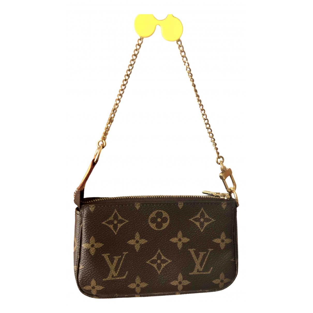 Louis Vuitton - Pochette Pochette Accessoire pour femme en toile - marron
