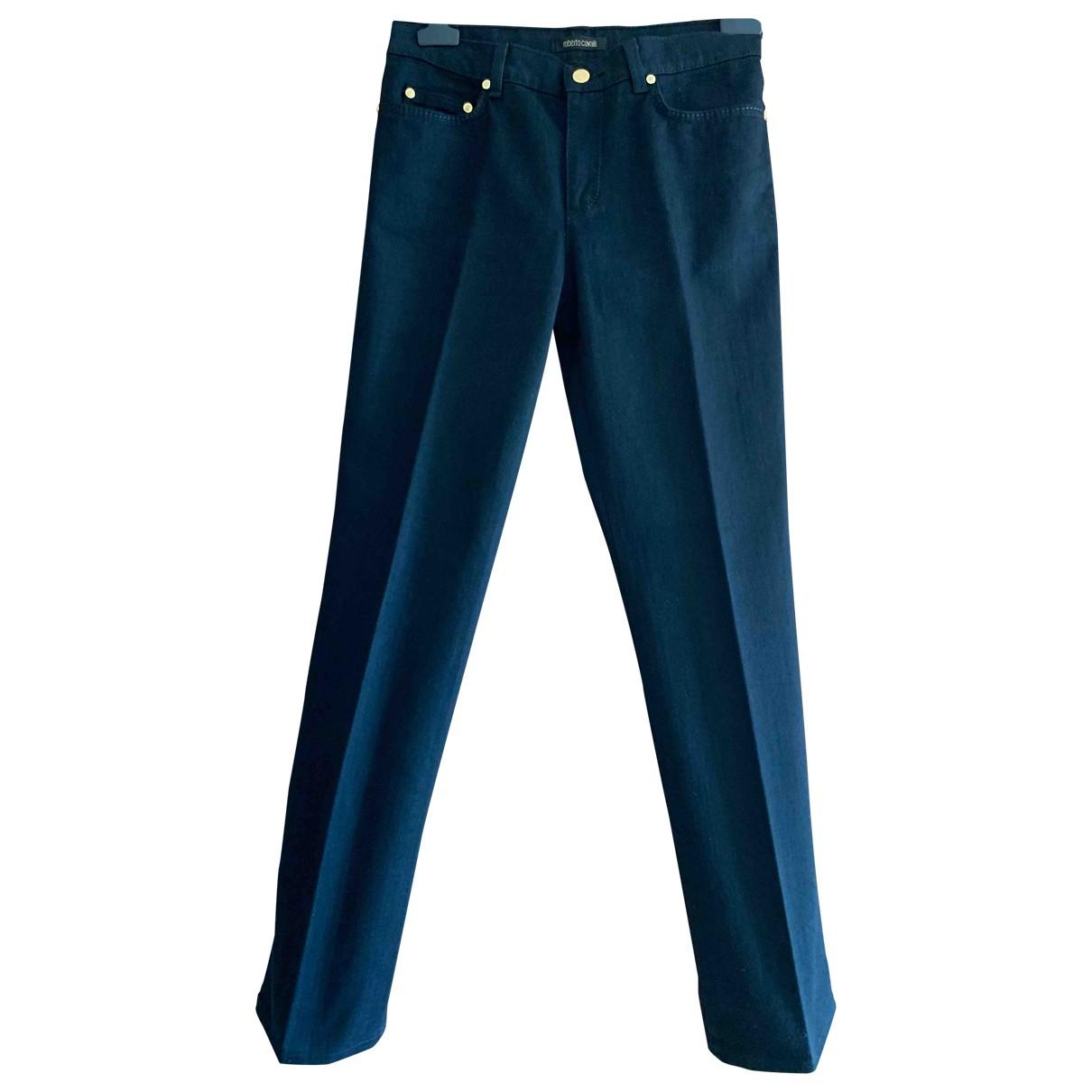 Roberto Cavalli \N Jeans in  Schwarz Baumwolle - Elasthan