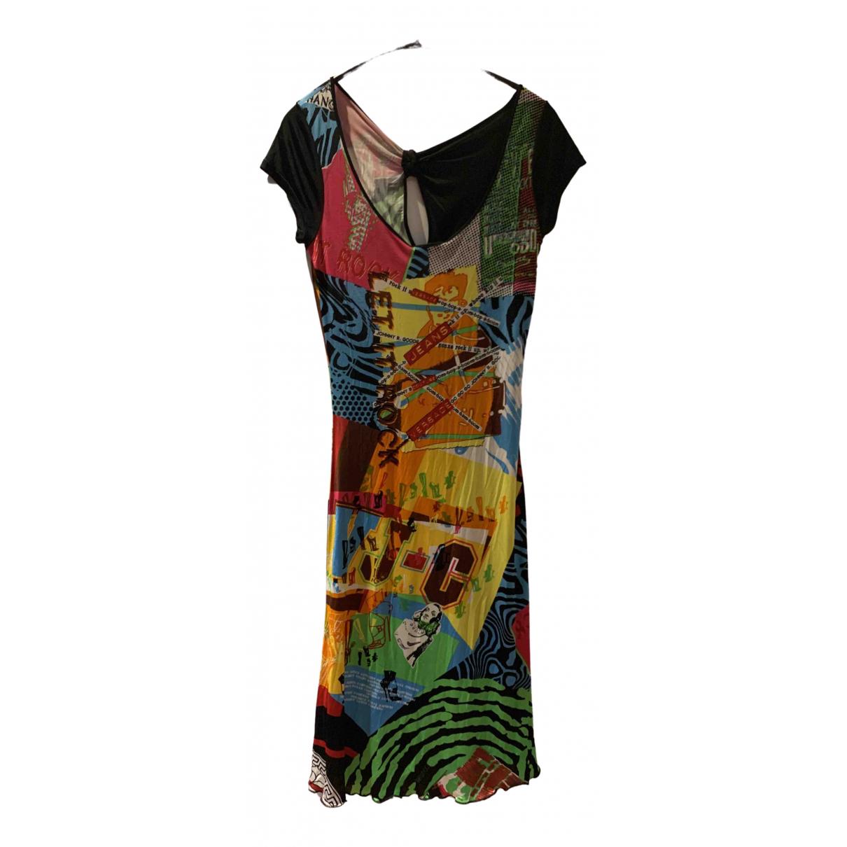 Versace Jeans \N Kleid in  Bunt Baumwolle - Elasthan