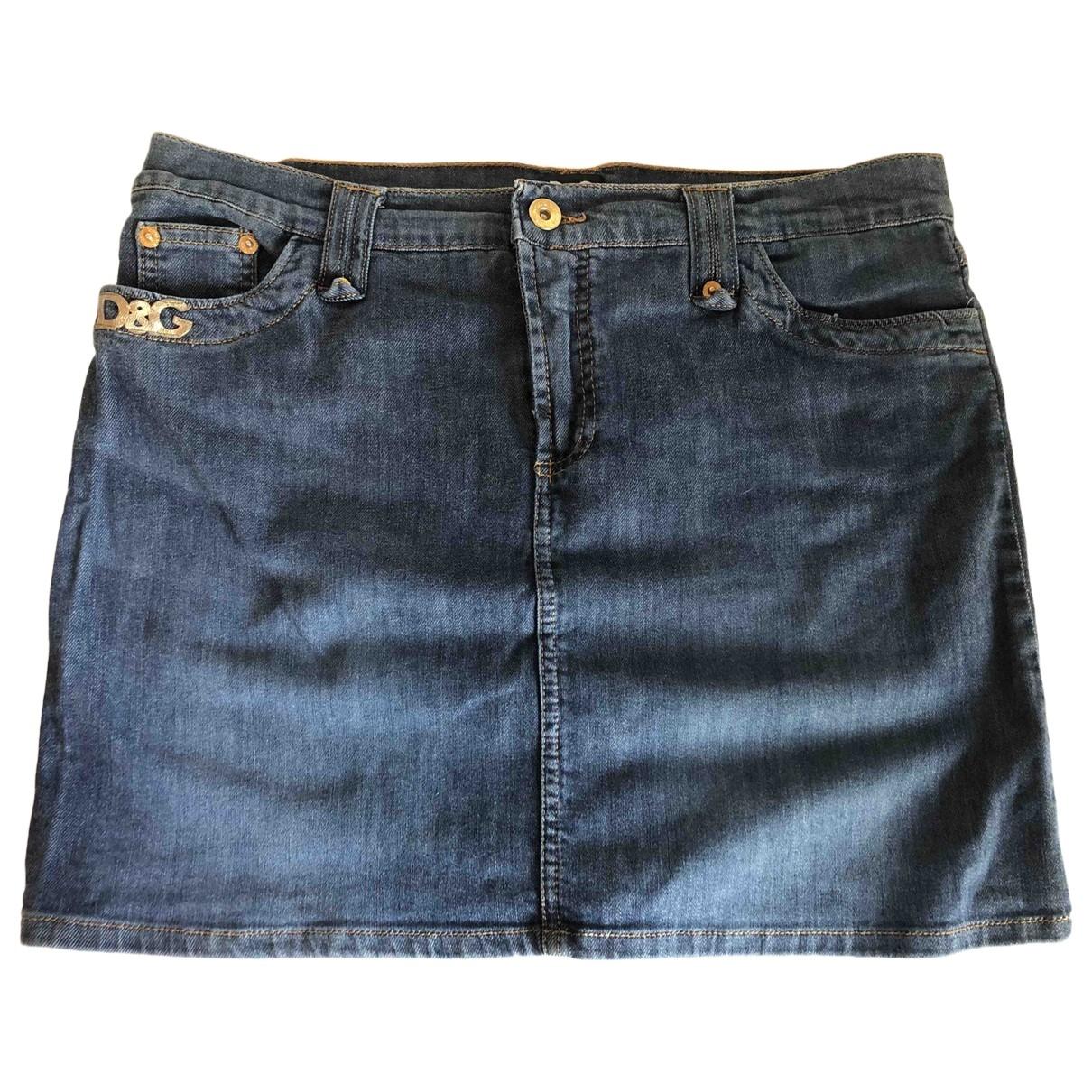 D&g \N Blue Denim - Jeans skirt for Women 44 IT