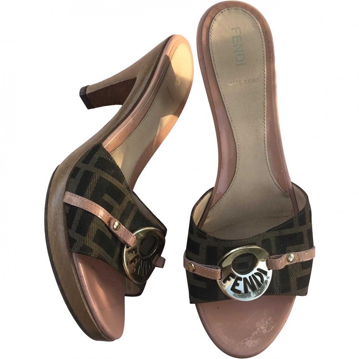 Fendi \N Cloth Mules & Clogs for Women 39 EU
