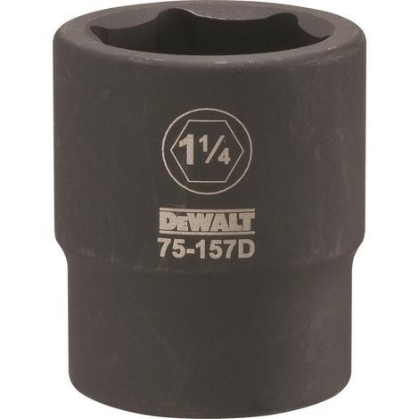 DeWalt 3/4 Drive X 1-1/4 6PT Standard Impact Socket