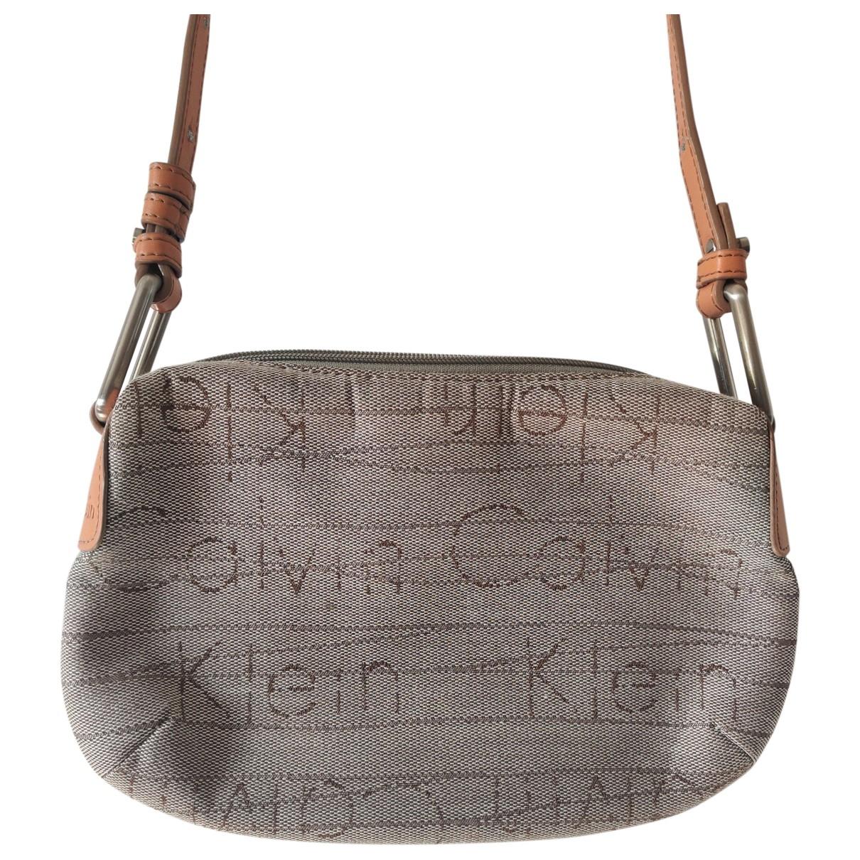 Bolsos clutch en Algodon Gris Calvin Klein