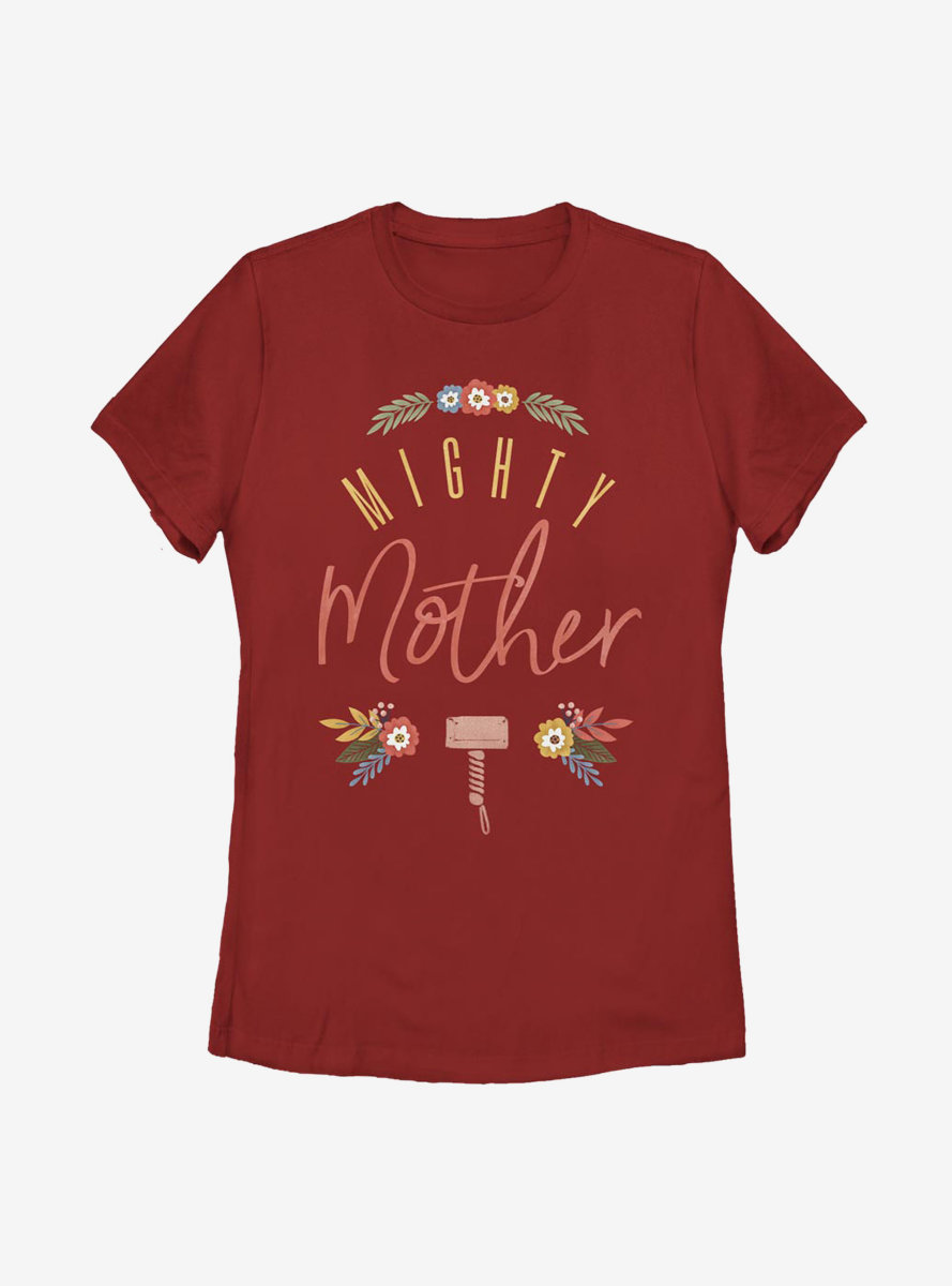 Marvel Thor Might Mother Floral Womens T-Shirt