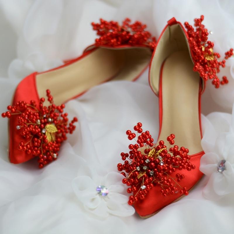 Ericdress Rhinestone Pointed Toe Plain Stiletto Heel Wedding Shoes