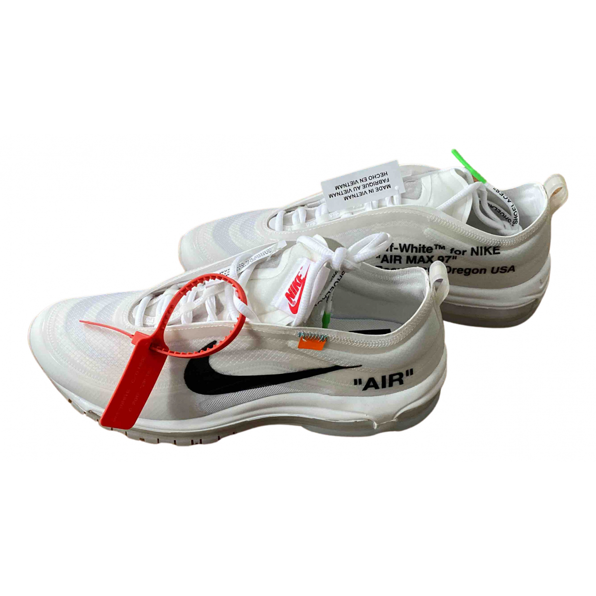 Nike X Off-white Air max 97 Sneakers in  Weiss Leinen