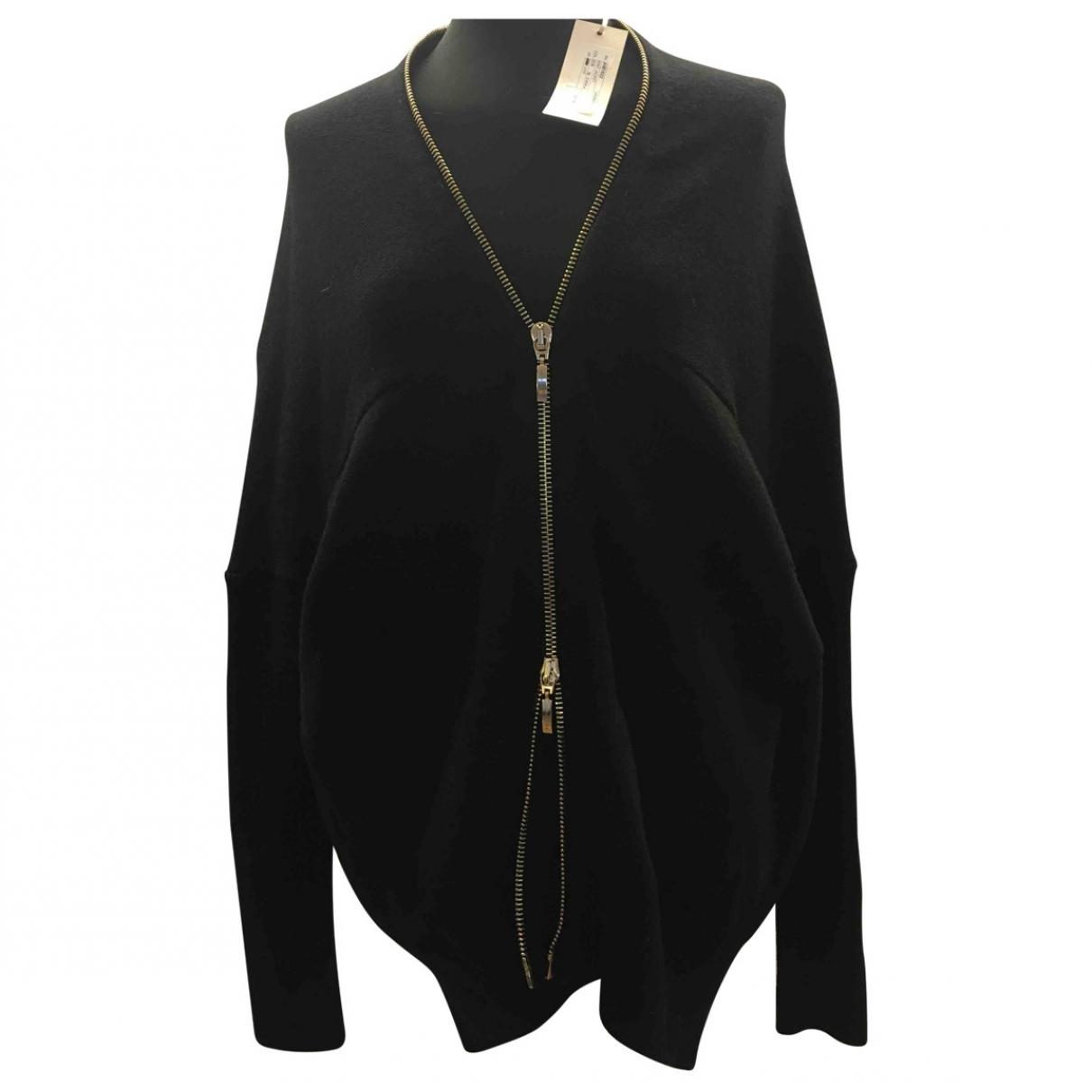Amen Italy - Pull   pour femme en laine - noir