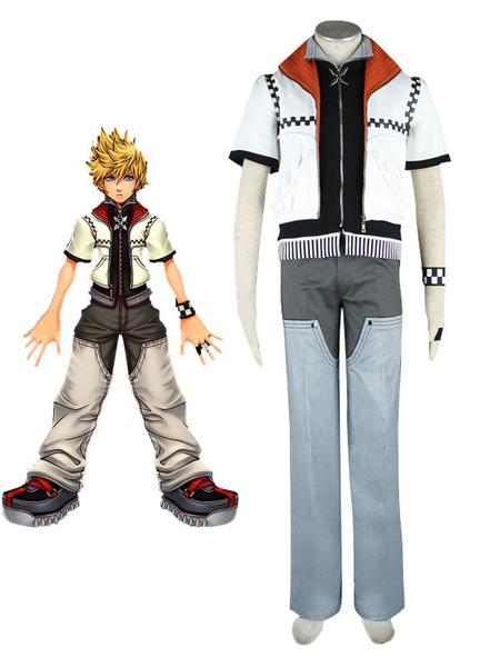Milanoo Kingdom Hearts Roxas Cosplay Costume  Halloween