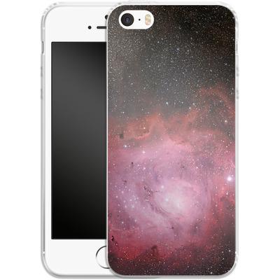 Apple iPhone 5 Silikon Handyhuelle - Pink Nebula von caseable Designs