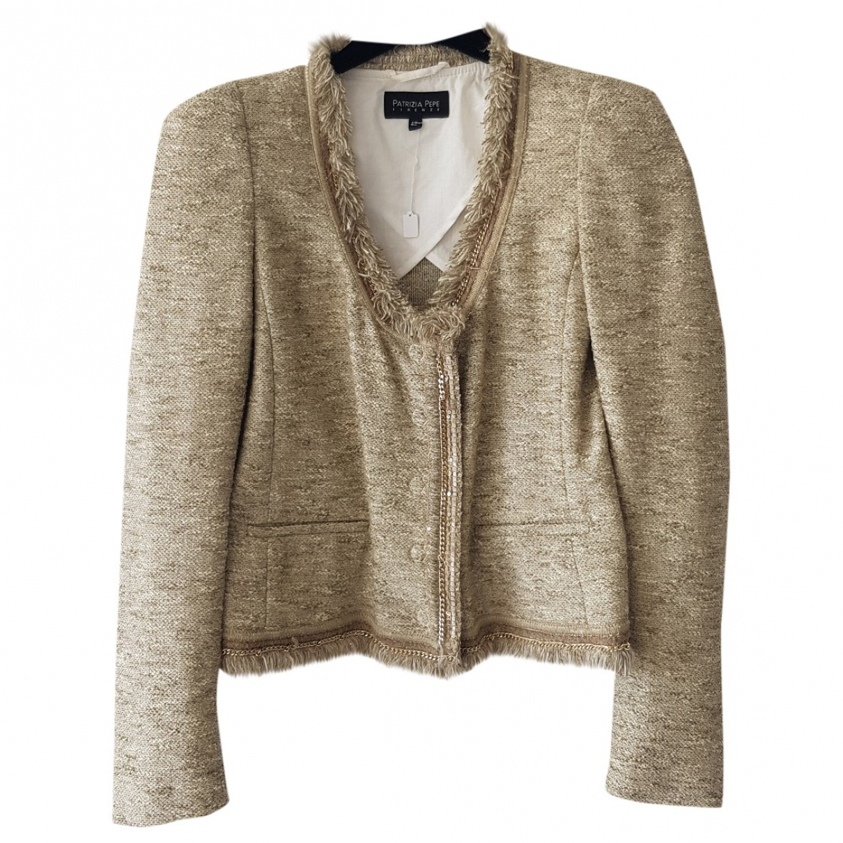 Patrizia Pepe \N Ecru Cotton jacket for Women 42 IT