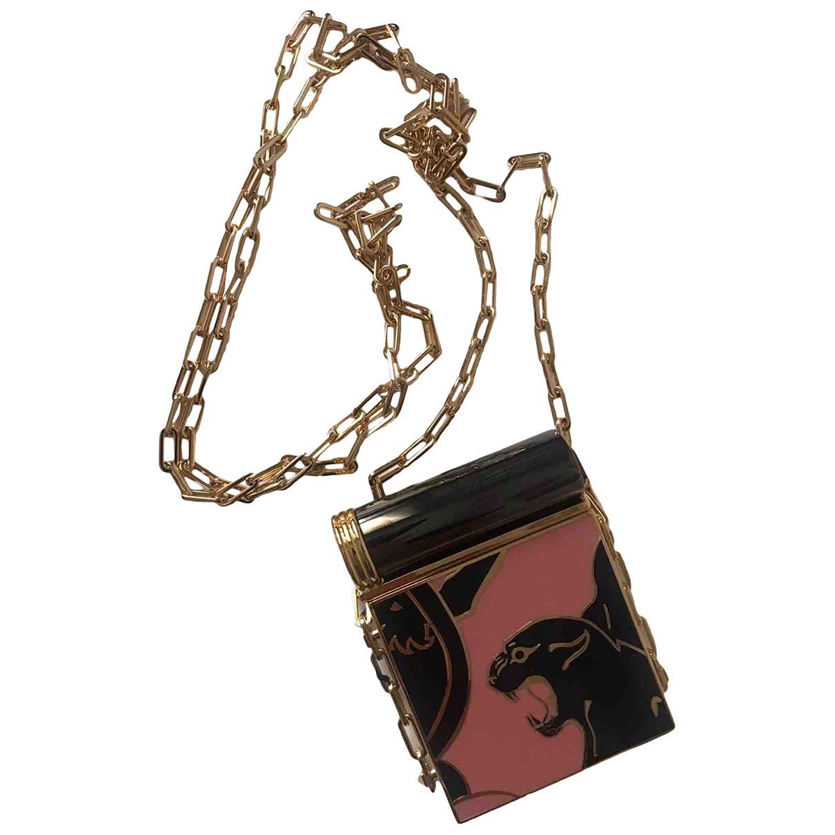 Valentino Garavani Rockstud Clutch in  Rosa Metall