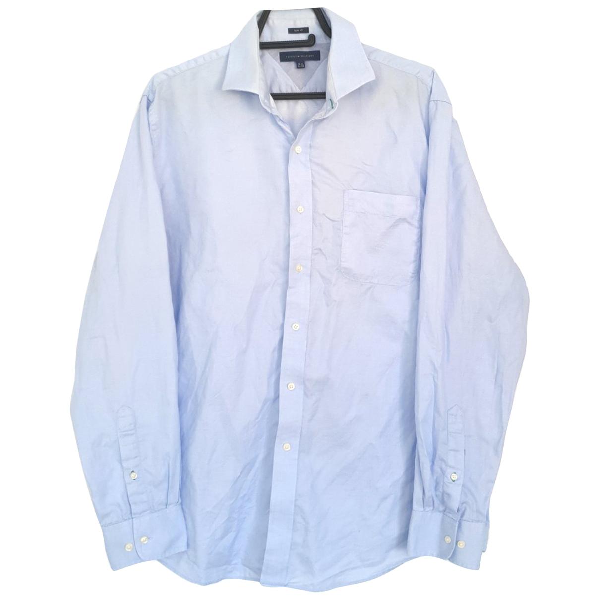 Tommy Hilfiger \N Blue Cotton Shirts for Men 16.5 UK - US (tour de cou / collar)