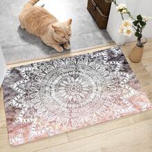 Lotus Print Floor Mat