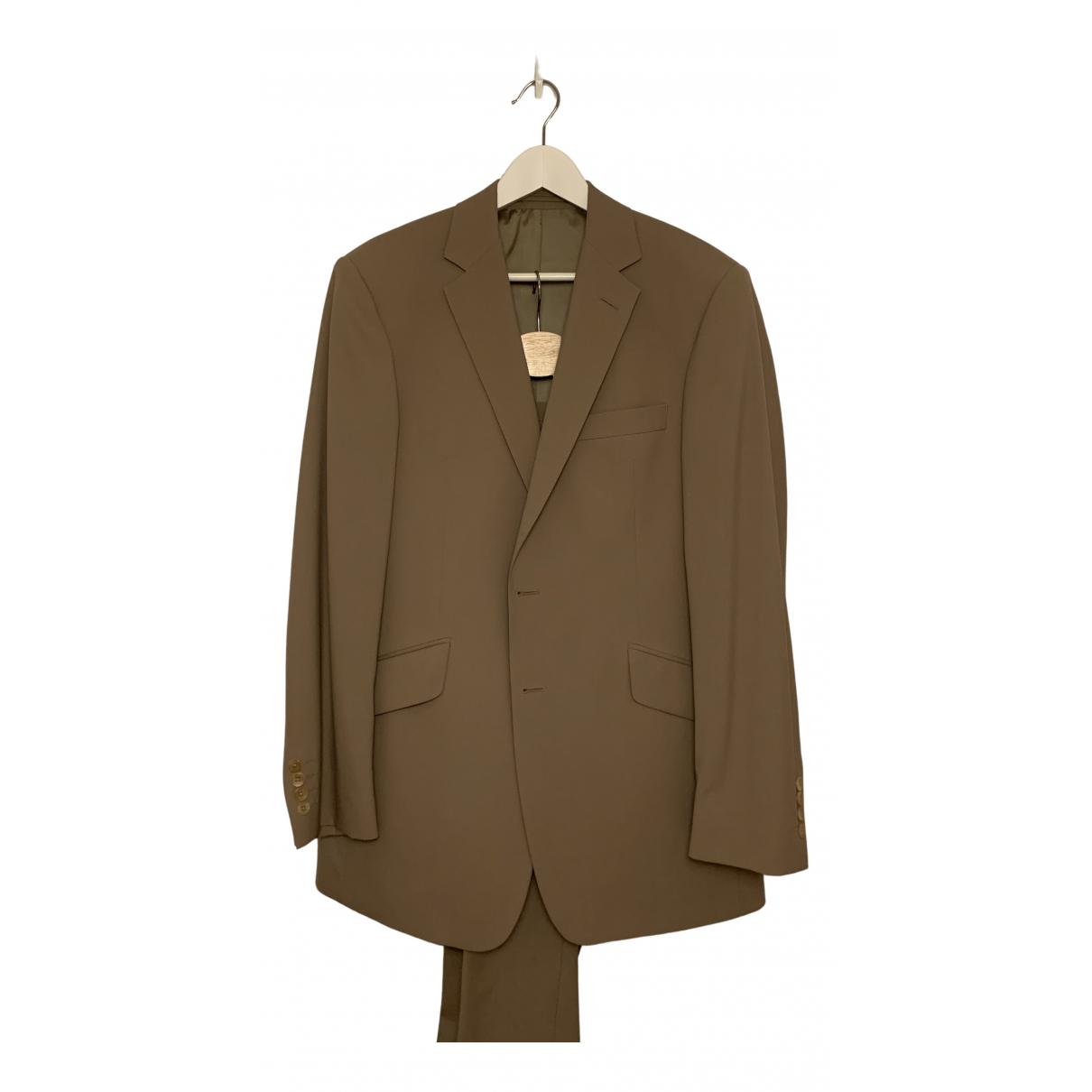 Non Signé / Unsigned N Beige Cotton Suits for Men 48 IT