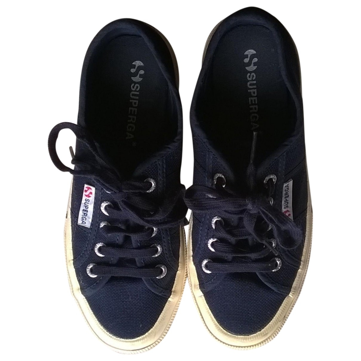 Superga \N Blue Cloth Trainers for Women 36 IT