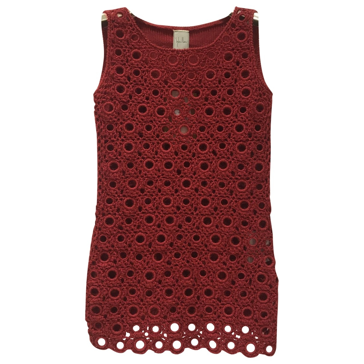 Non Signé / Unsigned \N Red Cotton dress for Women S International