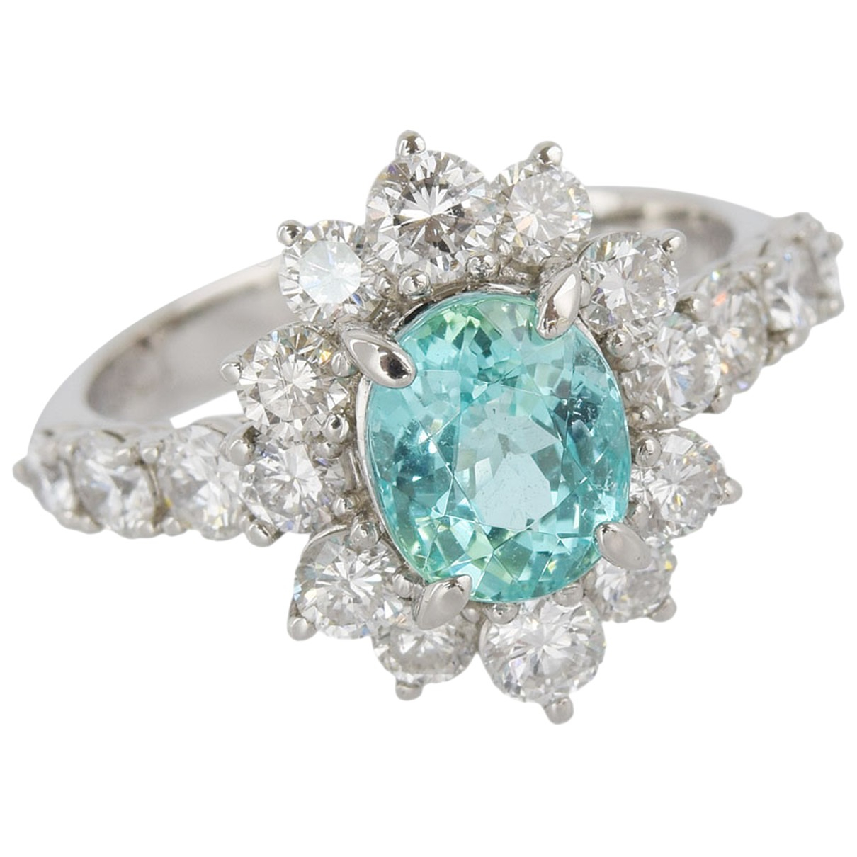 Non Signé / Unsigned N Blue Platinum ring for Women 52 EU