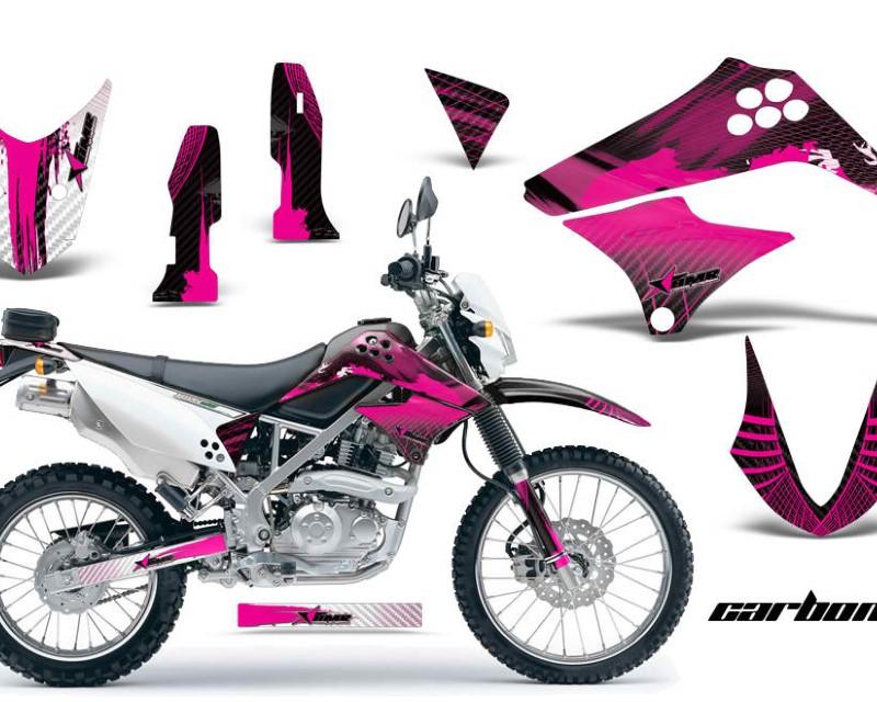 AMR Racing Dirt Bike Graphics Kit Decal Sticker Wrap For Kawasaki KLX125 2010-2016áCARBONX PINK