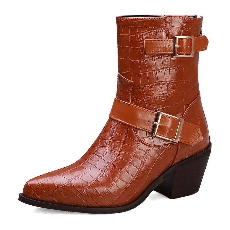 Ericdress Pointed Toe Plain Back Zip women's Ankle Boots