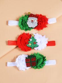 3pcs Baby Christmas Tree & Bell Decor Headband