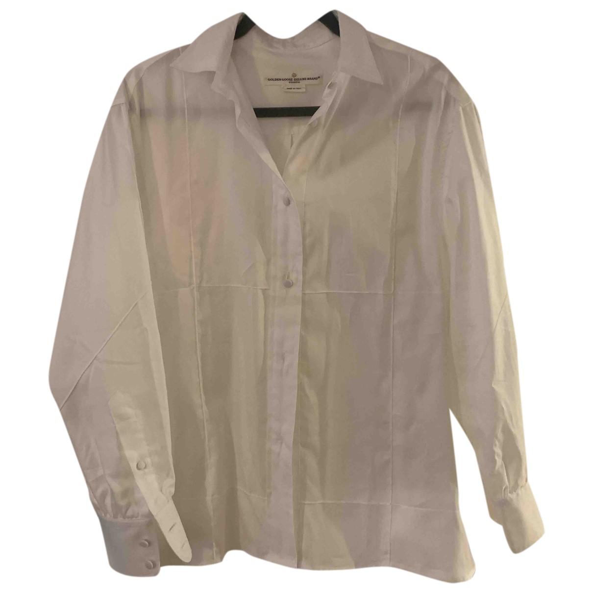 Golden Goose - Top   pour femme en coton - blanc