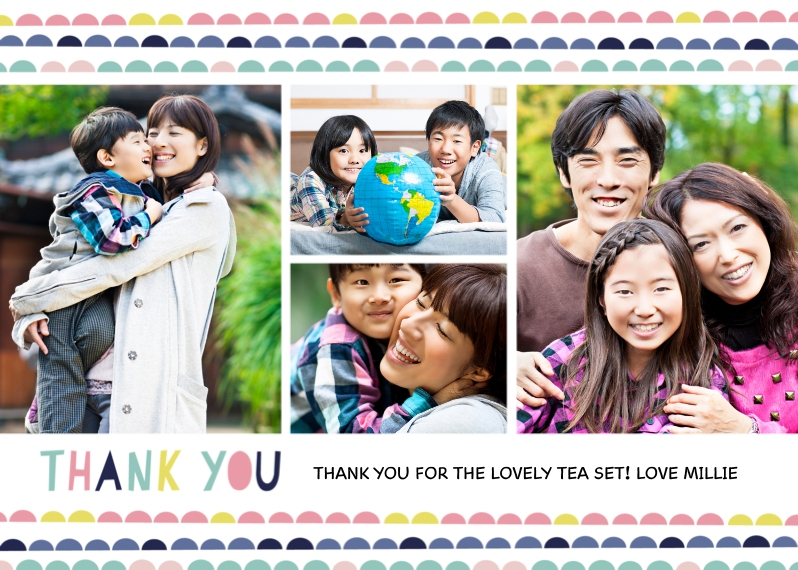 Thank You Cards 5x7 Cards, Premium Cardstock 120lb with Elegant Corners, Card & Stationery -Lots of Dots