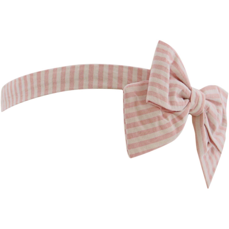 Janie And Jack Striped Soft Bow Headband Hair Accessory - One Size - Pink Stripe