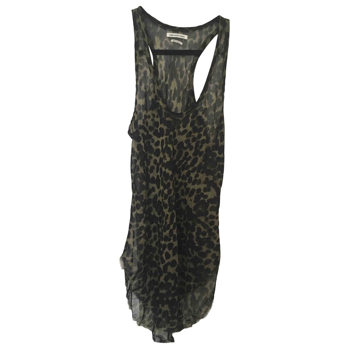 Isabel Marant Etoile \N Green Silk  top for Women 38 FR