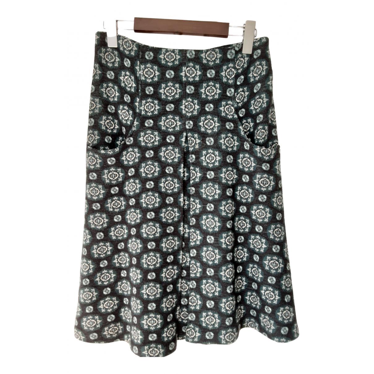 Diane Von Furstenberg - Jupe   pour femme en laine - turquoise
