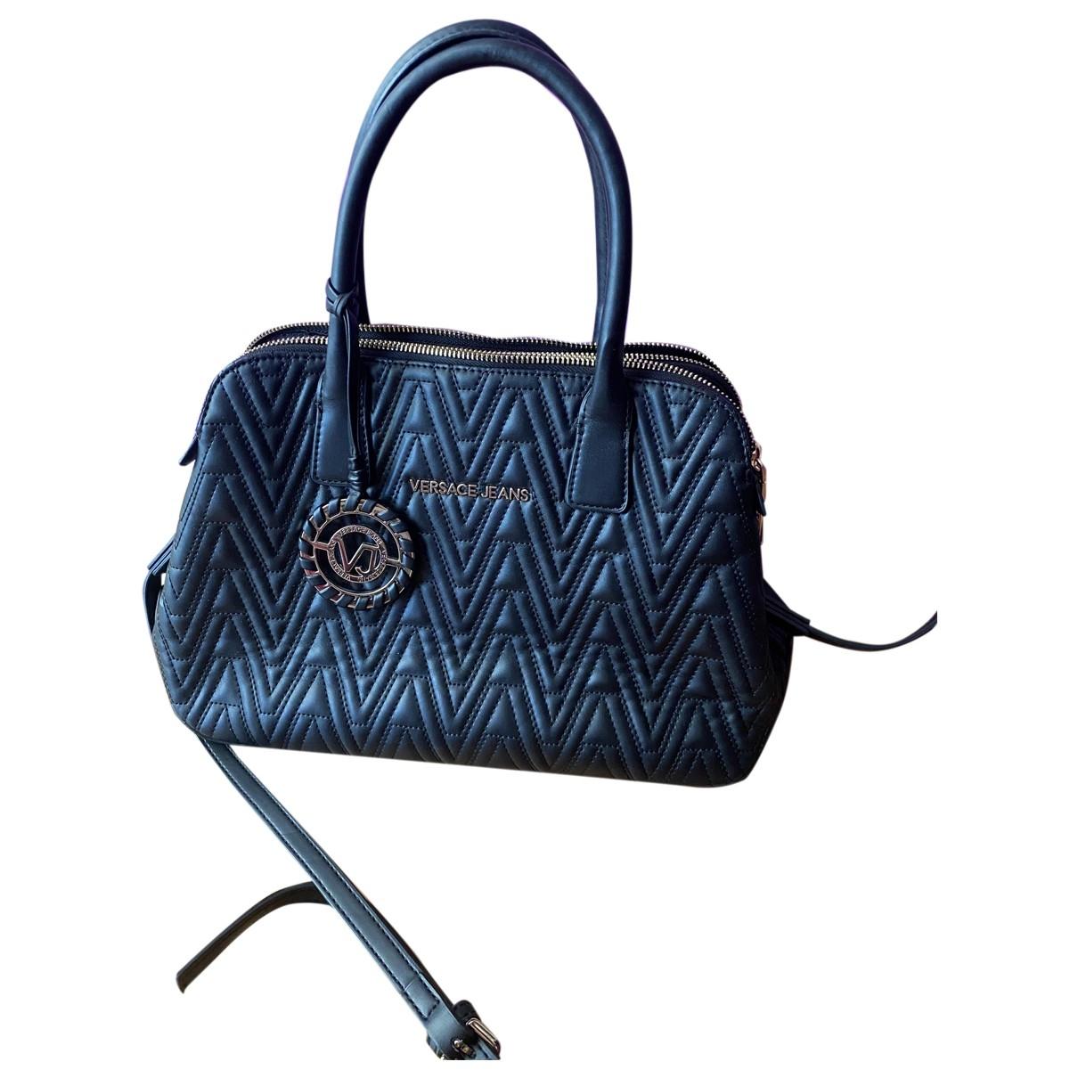 Versace Jeans \N Black Leather handbag for Women \N