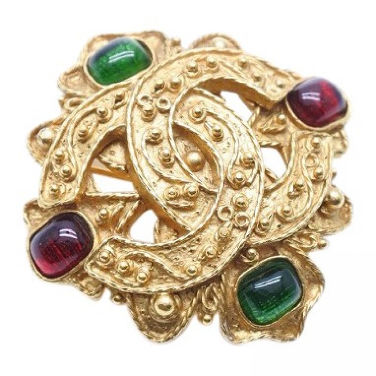 Broche Baroque en Chapado en oro Dorado Chanel