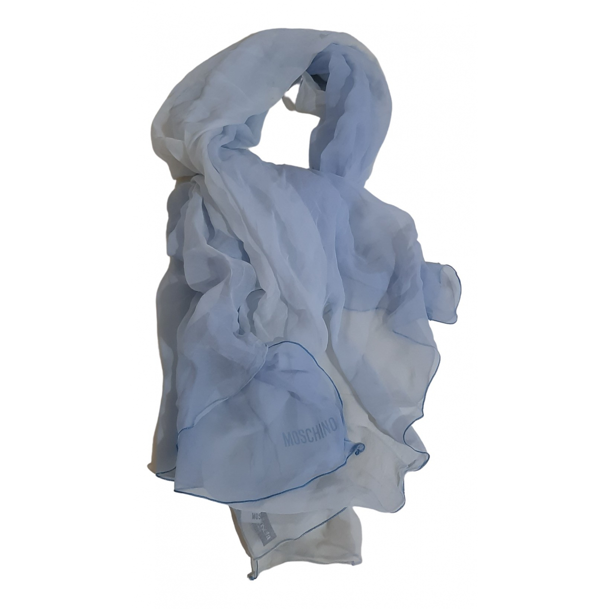Moschino - Foulard   pour femme en soie - bleu