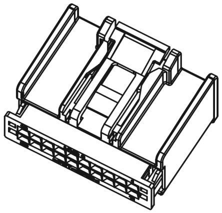 Molex , H-DAC 64 Female Connector Housing, 2.54mm Pitch, 12 Way, 2 Row (5)