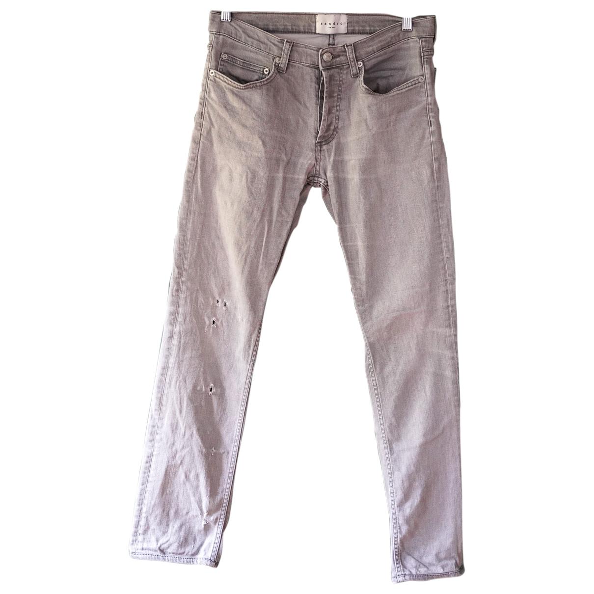 Sandro \N Grey Cotton - elasthane Jeans for Men 30 US