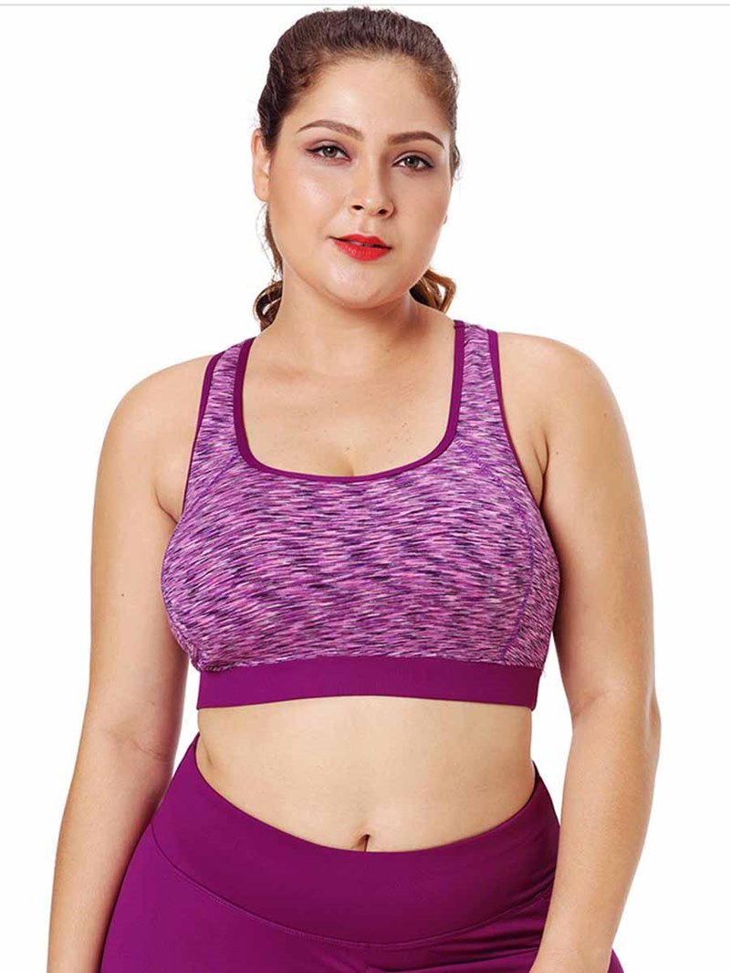Ericdress Women Plus Size Non-Adjusted Straps Sports Bras